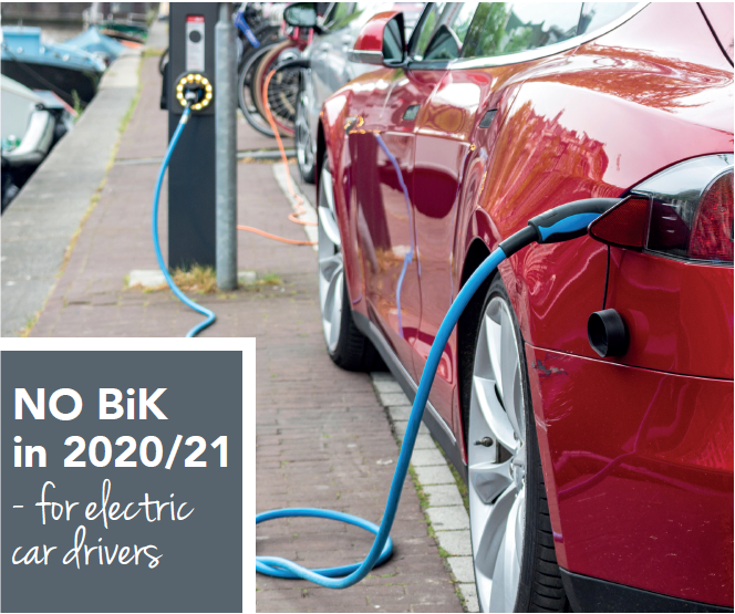 No BIK in 2020-21 for electric car drivers